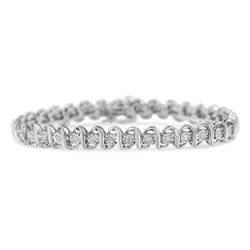 Sterling Silver Diamond...