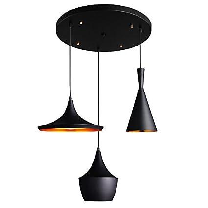 suspended lighting. JiaYouJia Contemporary Three Pendant Light Fixture Multi Suspended Lighting, Round Canopy Lighting B