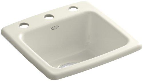 Kohler K-6015-3-96 Gimlet Self-Rimming Entertainment Sink, (Self Rimming Bar Sink Biscuit)