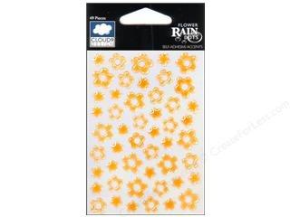 (Fiskars Rain Dots Dimensional Epoxy Stickers, Flowers Citrus)