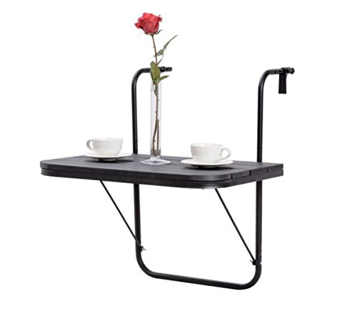 Bestselling Adjustable Folding Deck Table Patio Balcony Serving Table Stand Hanging Railing
