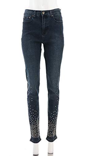 DG2 Diane Gilman Studded Stretch Denim Skinny Jean Indigo 6 Tall New 430-770 ()