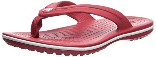 (Crocs Cocbandflpgs Sandal, Pepper, 4 M US Big Kid)