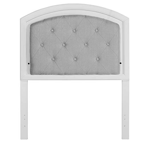 Hillsdale Furniture 7136-370 Lyndon Lane Upholstered Panel LED Lighted Headboard, Twin, White (Furniture Lyndon)