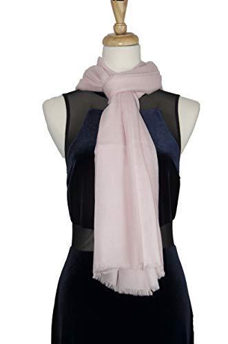 Ballet Pink Cashmere Shawl Scarf Handmade 100% Pure Lightweight Oversized