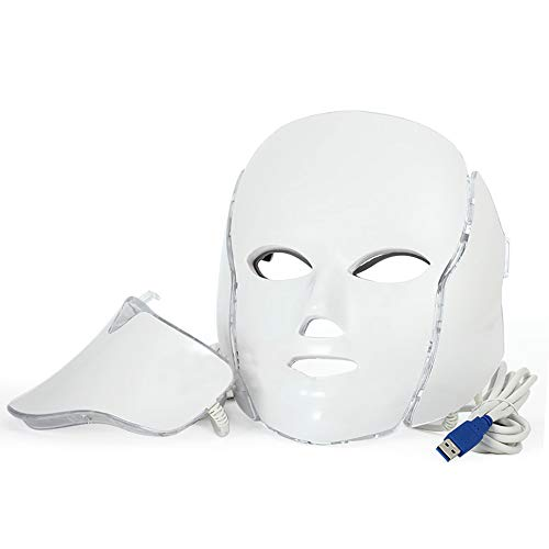 3 Color Photon LED Infrared Facial Neck Mask Anti-Aging Beau