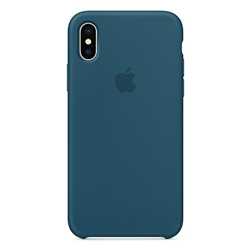Opshell Soft Apple Silicone Case Cover shell for Apple iPhone x/10 (5.8inch) 2017 Release Boxed- Retail Packaging (Cosmos - Cosmo Blue