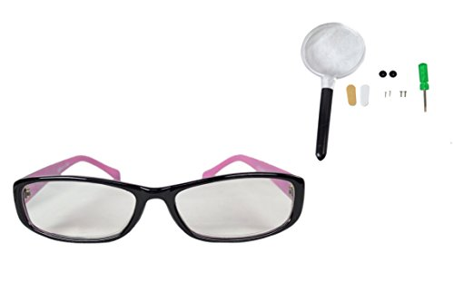 Stylish and sophisticated Reading Glasses for Women. Fashion Readers in a variety of colors, magnification and eyeglass frames. Repair Kit included just in case (+1.25, Black and - Glasses Fix Frames