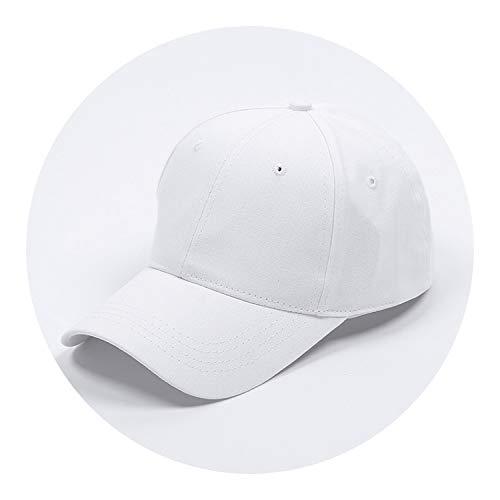 野球帽ソリッドカラー通気性日焼け止めキャップオープンカスタマイズ,白色,標準なし