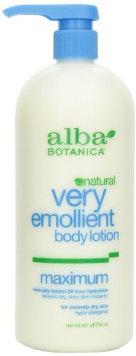 Moisturizing Lotion Emollient Botanica Alba Body Very Lotion (Body lotion,Very Emol,Dry By Alba Botanica - 32 Oz, 2 Pack)