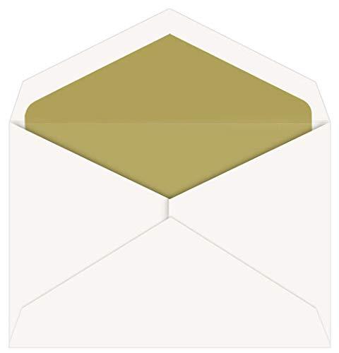(Gold Lined Inner Ungummed Envelopes, Jumbo Ecru, 25 Pack )