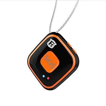 Uniqus REACHFAR V28 Necklace Style GSM Mini LBS WiFi AGPS Tracker SOS Communicator(Black)