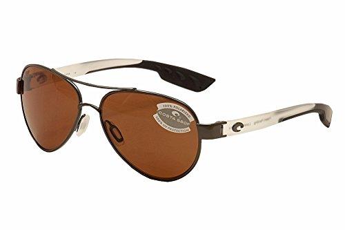 Costa Del Mar LR74OCP Loreto Sunglass, Gunmetal with Crystal Temples - Direct E Sunglasses