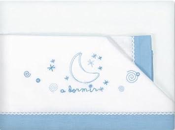 Pirulos A Dormir Juego de Sábanas 100% Algodón para Cochecito de 40x80 cm/Juego de Sábanas Set, Color Azul: Amazon.es: Bebé