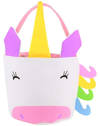 Girls Easter Baskets (EDS Industries Unicorn Tote Bag, Easter Basket, Kids Halloween Bag, Beach)