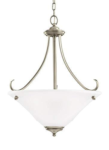 Sea Gull Lighting 65381EN3-965 Parkview Pendant, 3-Light LED 28.5 Total Watts, Antique Brushed Nickel