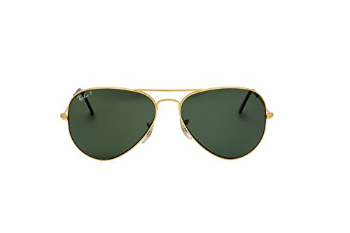 Ray-ban Polarized Aviator Sunglasses RB 3025 001/58 62mm + SD Glasses + Cleaning - Aviator 58 Ban 3025 Rb3025 Polarized Gold Ray 001