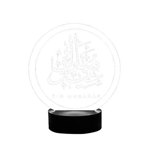 Masun Muslim Ramadan 3D Night Light Table Desk Lamp Light USB Bedroom Child Crystal Contract Printing Light