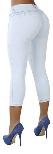 Curvify 764 Women's Butt-Lifting Skinny Jeans | High-Rise Waist, Brazilian Style (9 fits a 31