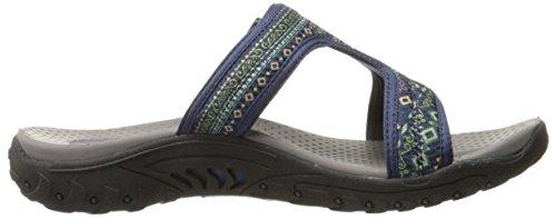 Skechers ReggaeRockfest 47786, Chaussures femme Navy Multi Ethnic Print