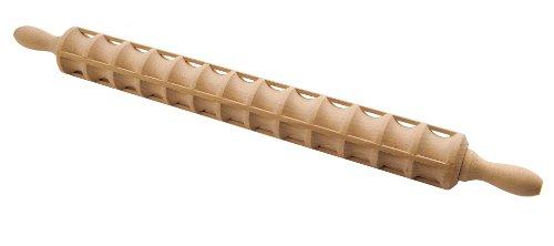 Eppicotispai Beechwood Ravioli Rolling Pin, 40 Raviolis, 23.6-Inch