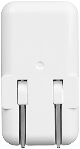 Amazon Basics Dual-Port 24W USB Wall Charger for Phone, iPad, and Tablet – White