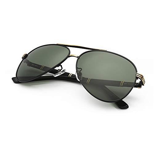 Negro De negruzco Plata ZYZHjy Sol Hombres Gafas Marco Polarizadas De Verde P8Yq7