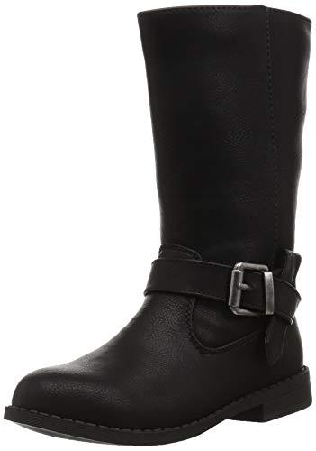 NINA Girls' Galaxy Fashion Boot, Black Tumbled, 5 Medium US Big Kid