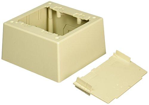 Panduit JBP2DEI 2-Gang Deep Outlet Box, Electric Ivory by Panduit