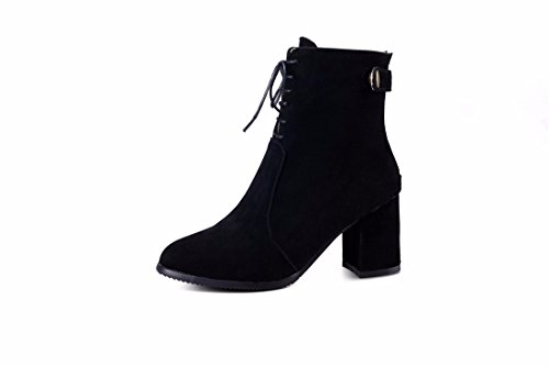 Boots Boots Heeled Black and Women's Shoes Winter High Boots RFF Matte Size nPI8wx8