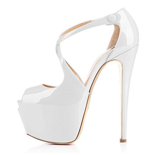 Talons Sandales Cross Grande Femme Laçage Gris Open Toe Chaussures Plateforme Taille Ubeauty Escarpins TBwxO6Awq