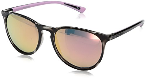 Body Glove Women's Cloudbreak Mirror Polarized Round Sunglasses, Light Pale Pink Crystal, 55 ()