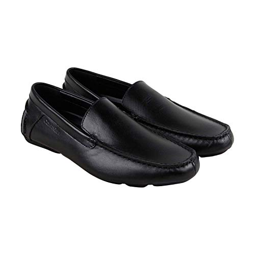 Calvin Klein Men's Miguel Driving Style Loafer, Black, 8 M U