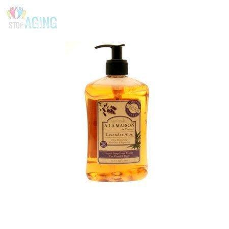 (A La Maison de Provence Liquid Soap, Lavender Aloe, 16.9-Ounce Bottles (Pack of 3))