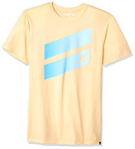 - Hurley Men's Premium Icon Slash Gradient T-Shirt, Melon Tint, S