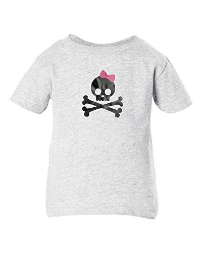 Mari Kyrios Pink Bow Skull & Cross Bones Punk Rock Baby Clothes Toddler T-Shirt Pullover