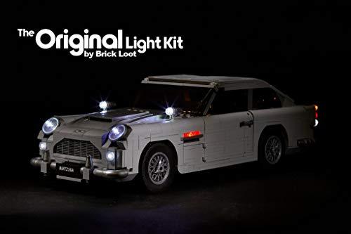 Brick Loot Deluxe LED Lighting Kit - James Bond Aston Martin DB5 - 10262 - Custom Designed - Handmade - Durability - Aston James Bond Martin