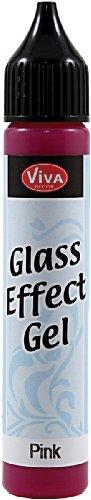 Viva Decor 25ml Glass Effect Gel, Pink