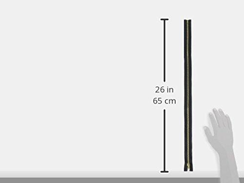 """Coats: Thread & Zippers F2522-BLK Heavyweight Brass Separating Metal Zipper, 22"""", Black"""