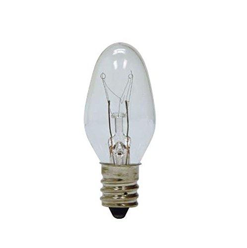 GE Lighting 4-Watt Night Light, Clear C7 with Candelabra Bas
