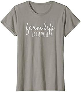 Womens Farm Life Farm Wife , Farmer's Wife T-shirt | Size S - 5XL