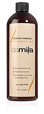 Keratin Complex Hair Treatment - Anti Frizz Hair Product Acts as a Hair Straightener, Conditions and Repairs - Includes Naturally Based Formaldehyde Free Keratin Complex - Professional or Home Keratin Treatment - Enough for 8 Applications - 16.9 Oz (500 m
