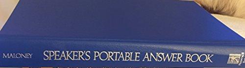 Speaker's Portable Answer Book