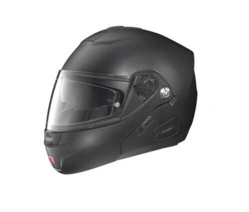 Nolan N-91 N-Com Solid Helmet , Distinct Name: Flat Black, Gender: Mens/Unisex, Helmet Category: Street, Helmet Type: Modular Helmets, Primary Color: Black, Size: Lg N915270330101
