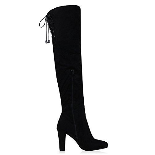 fashion Schleifen Schwarz Mujer Napoli Black Clásicas Botas dgqwxa7