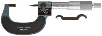 Mitutoyo Crimp Height Digital Micrometer, Mechanical Counter Model, Ratchet Stop, Metric