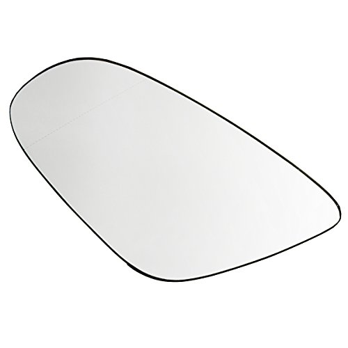 Car Right Side or Passenger Left Side Heated Wing Door Mirror Glass for VW Golf 2009 2010 2011 2012 ()