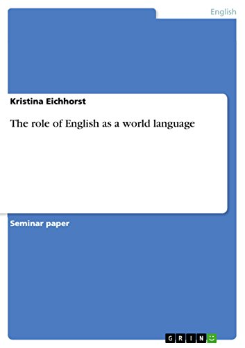 The role of English  as a  world language