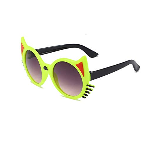 Toddler Kid Cute Animal Cartoon Sunglasses UV400 Sun Glasses Goggles Eyewear For Baby Girls Boys Gift (Gray Lens/Green Frame)
