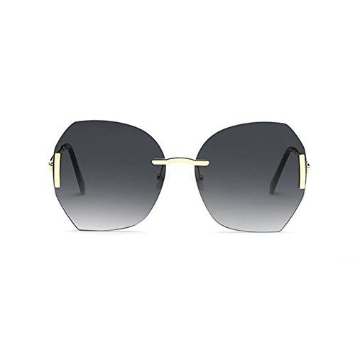 Gradiente Cara LIZHIQIANG De Gafas A Color Color Océano Retro Gafas Marea De C Sol Redonda Sol Mujer Transparente qCCdx18wR